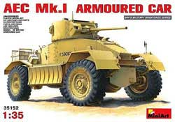 MINI ART MODELS AEC Mk.I ARMOURED CAR 1:35, LIST PRICE $69