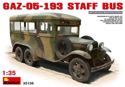 MINI ART MODELS GaZ-05-193 Staff Bus 1:35, LIST PRICE $68.95