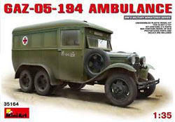 MINI ART MODELS GaZ-05-194 Ambulance 1:35, LIST PRICE $69.25