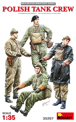 MINI ART MODELS Polish Tank Crew(4) 1:35, LIST PRICE $15.99
