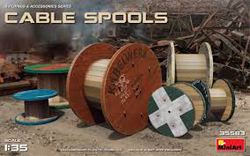 MINI ART MODELS Cable Spools 1:35, LIST PRICE $15.99