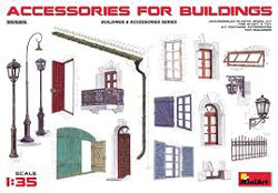 MINI ART MODELS Accessories for Bldgs 1:35, LIST PRICE $21.99