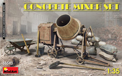MINI ART MODELS Concrete Mixer Set 1:35, LIST PRICE $21.99