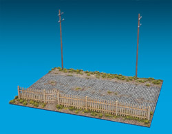 MINI ART MODELS 1/35 Village Road Section Diorama Base, LIST PRICE $33.5