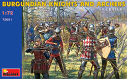 MINI ART MODELS BURGUNDIAN KNIGHTS & ARCHERS  , LIST PRICE $13.5