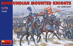 MINI ART MODELS BURGUNDIAN Mtd KNIGHTS 1:72   , LIST PRICE $13.5