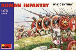 MINI ART MODELS ROMAN INFANTRY III-IV 1:72 , LIST PRICE $13.5
