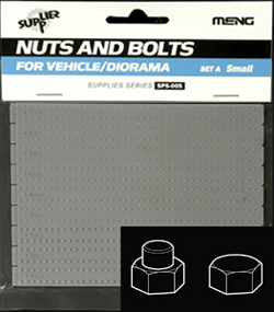 MENG by Squadron SMALL NUTS & BOLTS SET A 1:35, LIST PRICE $9.99