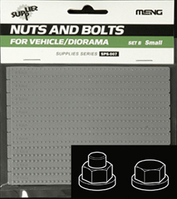 MENG by Squadron LARGE NUTS & BOLTS SET B 1:35, LIST PRICE $9.99
