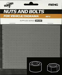 MENG by Squadron LARGE NUTS & BOLTS SET C 1:35, LIST PRICE $9.99