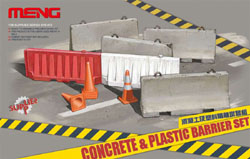 MENG by Squadron CONCRETE & PLASTIC BARRIER :35, LIST PRICE $16