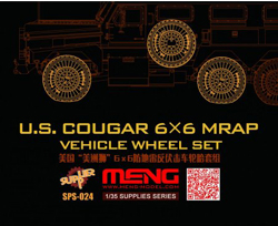 MENG by Squadron Us Cougar 6x6 Mrap Wheel Set, LIST PRICE $37.99