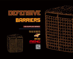 MENG by Squadron Defense Barriers 1:35, LIST PRICE $35.95
