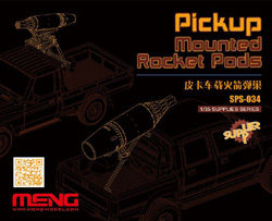 MENG by Squadron Pickup Mtd Rocket Pods 1:35, LIST PRICE $35