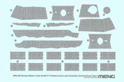 MENG by Squadron Sd.KfZ.171 Panther Decal Type3, LIST PRICE $14.99
