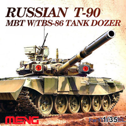 MENG by Squadron T-90 Mbt W/Tbs-86 DoZer 1:35, LIST PRICE $89.99
