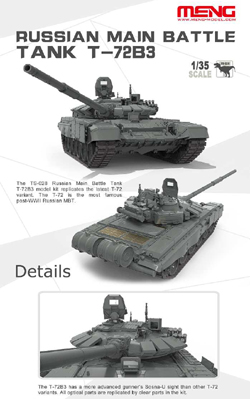 MENG by Squadron Russian Mbt T-72B3 1:35, LIST PRICE $99.99