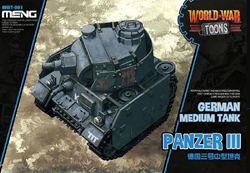 MENG by Squadron German Med Toon Tank Panzeriii, LIST PRICE $12.99