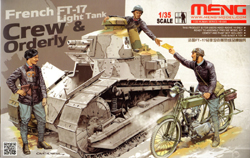 MENG by Squadron French Ft-17 Lt Tank Crew 1:35, LIST PRICE $35