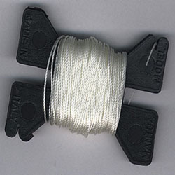 MODEL SHIPWAY 10yds X .040 WHITE RIGGING , LIST PRICE $4.69