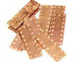 MODEL SHIPWAY 18mm Lg DIMPLE COPPER PLATE , LIST PRICE $8.7