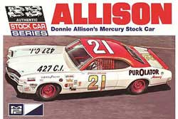 MPC '71 Donnie Allison Mercury :25, LIST PRICE $30.99