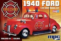 MPC '40 FORD FIRE CHIEF Snap 1:25, LIST PRICE $25