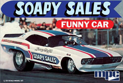 MPC 1:25 Soapy Sales Dodge Challenger Funny Car, LIST PRICE $27.49