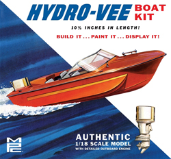 MPC 1/25 Hydro Vee Boat Kit, DUE 8/31/2018, LIST PRICE $27.99