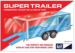 MPC 1/25 Super Display Case Trailer Clear Body, DUE 1/31/2019, LIST PRICE $27.99