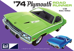 MPC 1/25 1974 Plymouth Road Runner, 2T, DUE 8/31/2019, LIST PRICE $28.99