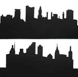 New London Industries STencil seT The CiTy   4/, LIST PRICE $14.98
