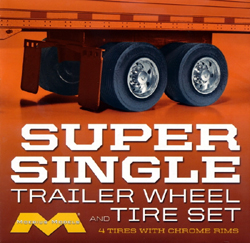 Moebius Trailer Wheel & Tire Set 1:25, LIST PRICE $19.99