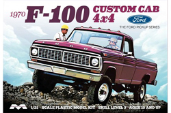 Moebius 1970 Ford F100 4X4 Pick Up Truck Custom Cab 1/25, LIST PRICE $34.99