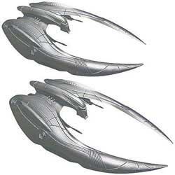 Moebius BGS CYLON RAIDER 1:72 2pak, LIST PRICE $35