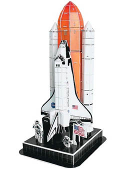 Model Power Planes Space Shuttle 3D Puzzle 87p, LIST PRICE $12