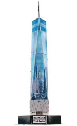Model Power Planes One World Trade 3d Puz 23p, LIST PRICE $12