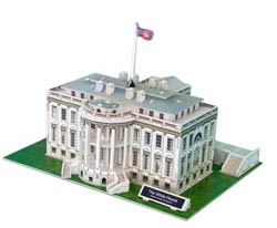 Model Power Planes White House 3d Puz 64p, LIST PRICE $12