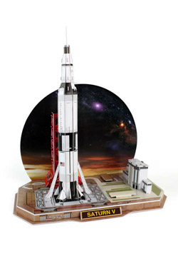 Model Power Planes Saturn V Rocket 3D Puzzle 68P, LIST PRICE $17.5