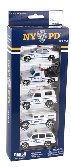 Model Power Planes Nypd 5 Vehicle Set, LIST PRICE $16