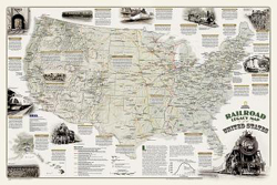 NATIONAL GEOGRAPHIC RR MAPS RR LEGACY MAP LAMINATED, LIST PRICE $24.99