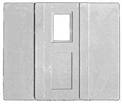 New England Rail Service HO 4' Baggage Car Door -- With Frames pkg(4), LIST PRICE $5.95