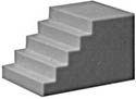 Pikestuff HO Concrete Steps , LIST PRICE $3.25