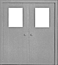 Pikestuff HO Double Personnel Door HO (2/pk), LIST PRICE $3.25