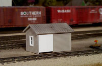 Pikestuff HO Handcar Shed , LIST PRICE $7.5