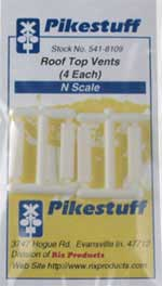 Pikestuff N Roof Top Vents (4 each) , LIST PRICE $3.75