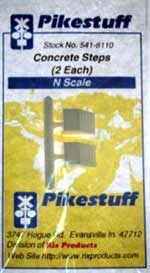 Pikestuff N Concrete Steps (2 each) , LIST PRICE $3.25