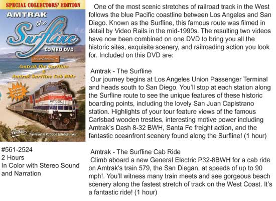 Pentrex Amtrak Surfline Combo  DVD, LIST PRICE $29.95