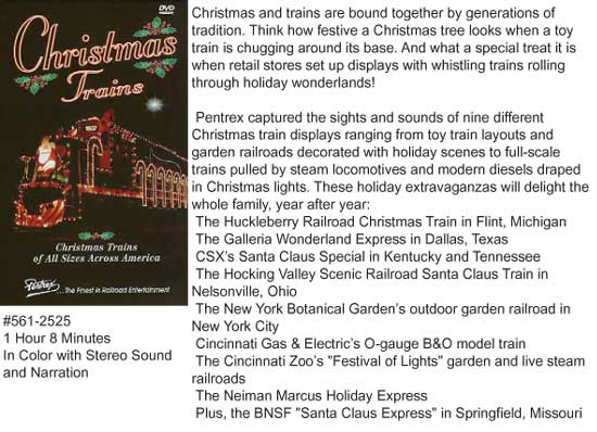 Pentrex Christmas Trains DVD, LIST PRICE $29.95