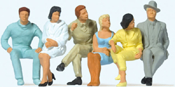 Preiser 1/32 Seated Passengers, LIST PRICE $54.99